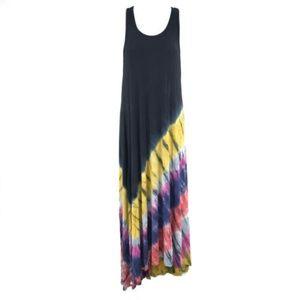 JQ Couture Racerback Scoop Neck Knit Maxi Dress L